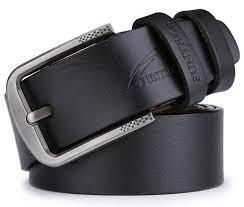 FUNTEKS <b>100</b>% <b>Cowhide Genuine</b> Leather Belts for Men Luxury ...