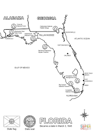 Small Picture Florida Map coloring page Free Printable Coloring Pages