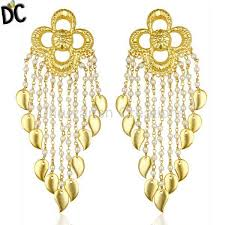latest designer jewelry pearl chandelier 18k gold plated sterling silver earrings traditional jewelry traditional brass jewelry
