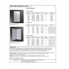 24 X 36 Medicine Cabinet Ketcham Medicine Cabinets Euroline 135 X 36 Recessed Medicine