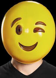 Wink Emoticon Halloween Mask