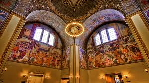 rotunda at the central library in downtown l a