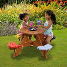 small round outdoor little tikes fold and picnic table with seats ideas