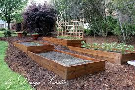 raised beds sloped garden raised
