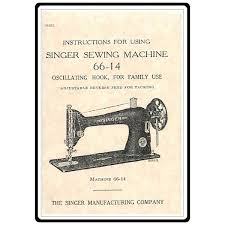 Instruction Manual For Singer Treadle Sewing Machine