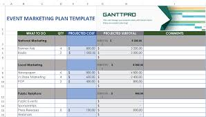 Marketing Plan Gantt Chart Template Event Marketing Plan Template Free Download Excel Template