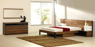 Night Stands Bedroom Modern Bedroom Set W Oversized Headboard Built In Nightstands  Oak Night Stands Bedroom