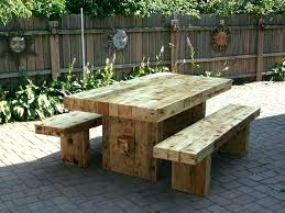 rustic wood patio furniture. Wooden Outside Tables Outdoor Furniture Patio Light Brown Rectangle Rustic Wood Varnished Design For