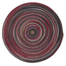 mayberry rosewood multi 10 ft x 10 ft braided round area rug