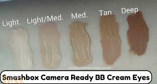 Smashbox Bb Cream Light Medium Swatch Smashbox Bb Cream Eyes Concealer Review Swatches Of Shades
