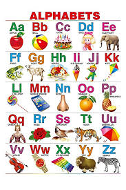 Learning Chart 100yellow Paper English Alphabet Chart For Kids Educational Poster Learning Chart 12x18 Inches Multicolour Educational_poster_7685