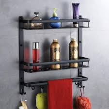 aluminum black aluminum bathroom shelf european style bathroom corner shelf bathroom racks free punch triangular basket malaysia senarai harga 2019
