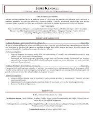 Child Care Job Resume Under Fontanacountryinn Com