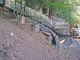 how to build a retaining wall on steep