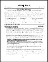 consulting resume samples healthcare consulting