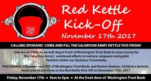 Washington Trust Bank Customer Service Join The Red Kettle Kick Off Downtown Spokane Partnership