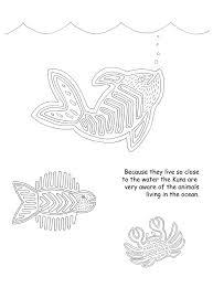 Mola Fish Crab Coloring Page