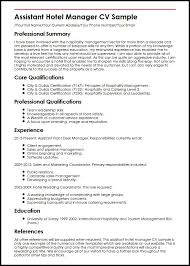 Curriculum Vitae Format For Hotel Management - Sample Hotel ...