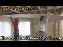 how to hang drywall on ceiling you