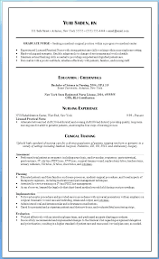New Grad Nursing Resume Classy Graduate Nurse Resume Critical Care Sample New Grad Writing Nursing