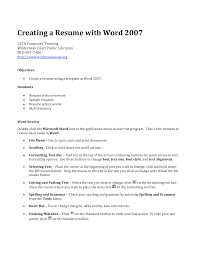 how to make a resume on word 2007 templates Resume Template Builder Mct5TTIV