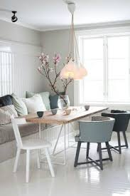 i love the bench seat with the miss match chairs 77 gorgeous exles of scandinavian interior design earthy scandinavian dining room