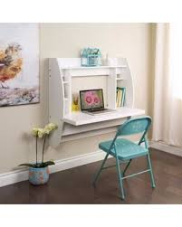 wall mounted home office. Uenjoy Floating Wall Mounted Office Computer Desk Home Table W/Storage, White