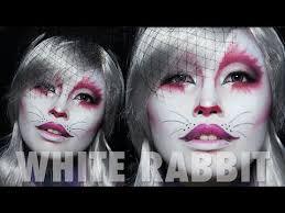 white rabbit makeup tutorial alice in wonderland