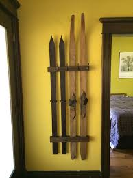 use skis in winter home decor