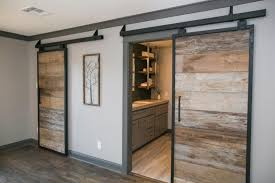 barn doors via curbed view in gallery fixer upper bachelor pad design