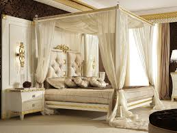 Picture of Superb Canopy Frame Modern Bed Curtains Decorating Idea ...