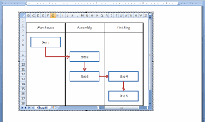 How To Insert A Flow Chart Into Word How To Embed An Excel Flowchart In Microsoft Word Breezetree