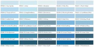 Green Paint Color Chart Behr Paints Color Chart Some Of The Blues 550a 1 Sea