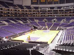 Rare Staples Center Lakers Seating View Los Angeles Lakers