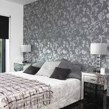 bedroom with wallpaper photo - 1