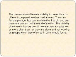 essay on horror movies co the representations of gender in horror films essay