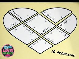 solving equations valentine s day math two step equations puzzle valentine s day activity