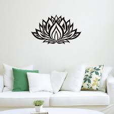 lotus flower yoga wall decals vinyl art mural bedroom wall sickers home decor wall decals for home decorating wall decals for kids from flylife  on wall decal vinyl art stickers decor with lotus flower yoga wall decals vinyl art mural bedroom wall sickers