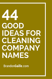 Housekeeping Company Names 250 Good Ideas For Cleaning Company Names Catchy Slogans