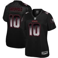 Francisco Jersey San Line Pro Garoppolo Women's Fashion 49ers Black Smoke Nfl Jimmy -