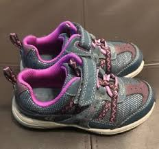 Clarks Girls Toddlers Sneakers Shoes Blue Purple Gray Size
