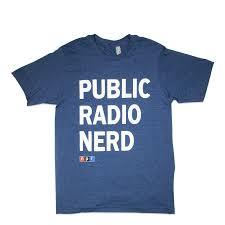 Public Radio Nerd Tee Navy – NPR Shop