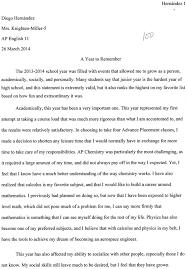 junior year reflective essay diego hernandez s junior eportfolio