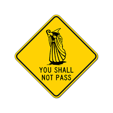 You Shall Not Pass Wizard Sign 18x18 Or 24x24 Or 30x30 Sizes 18x18 Size