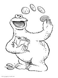 Small Picture Sesame Street mini coloring books Cookie Monster