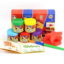 marco safe non toxic washable watercolor gouache paint sets 5colors finger painting for children
