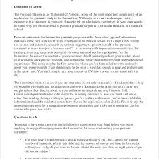 10 Statement Of Purpose Grad School Examples Resume Statement