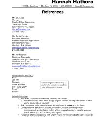 references word template resume references page reference format onmplate newest
