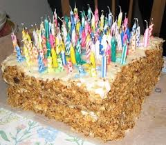 birthday cake with too many candles.  Cake Too Many Candles Inside Birthday Cake With B