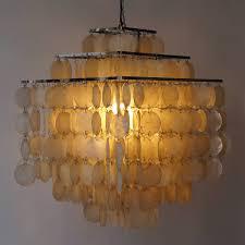 capiz shell chandelier by verner panton for at 1stdibs